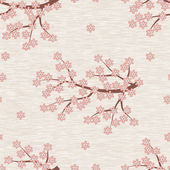 Cherry Blossom Seamless Pattern — Stock Vector