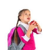 Little Girl In School Uniform — Stock Photo