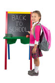 Little Girl at a Blackboard — Stock Photo