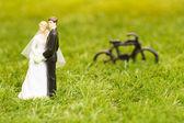 Plastic groom and bride — Stock Photo
