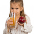 Girl With apple Juice — Stock Photo #33327451