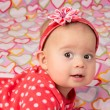Baby Girl with Headband — Stock Photo #38089607