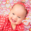 Baby Girl with Headband — Stock Photo #38089701