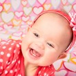 Baby Girl with Headband — Stock Photo #38089719