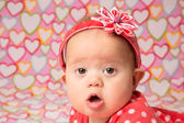 Baby Girl with Headband — Stock Photo