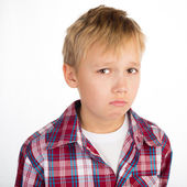 Unhappy Boy — Stock Photo