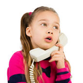 Girl Talking the Phone — Stock Photo
