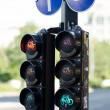 Bycicle signal light — Stock Photo