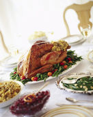 Traditional Turkey Dinner — Stock Photo
