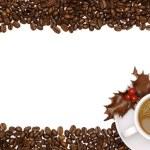 Festive Coffee Border — Stock Photo
