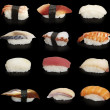 Stock Photo: Japanese sushi mix