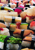 Japanese sushi assortment — Stock Photo