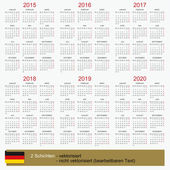 Calendar 2015-2020 — Stock Photo