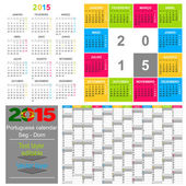 Kalender 2015 — Stockvektor