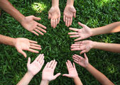 Multicultural hands — Stock Photo