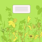 Herbal card — Stock Vector