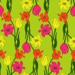 Seamless pattern with tulips — Stock Vector #29377293