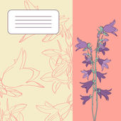 Floral card with bellflowers — Stock Vector