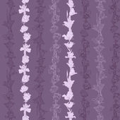 Seamless pattern with irises and roses — Vector de stock