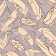 Seamless pattern with shoes — Stock Vector