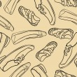Stockvektor : Seamless pattern with shoes