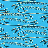 Seamless pattern from fishes — Stock Vector