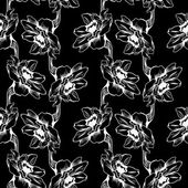 Seamless pattern with narcissus — Stok Vektör