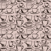 Seamless vector pattern with teacups — Stock vektor