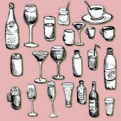 Set of wineglass — Stock Vector