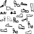 Stock vektor: Doodle shoes