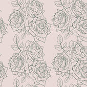 Seamless pattern with roses — Vecteur