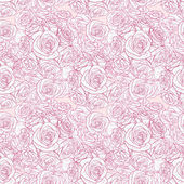 Seamless pattern with roses — Vettoriale Stock