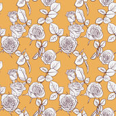 Seamless pattern with roses — 图库矢量图片