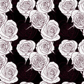 Seamless pattern with roses — ストックベクタ