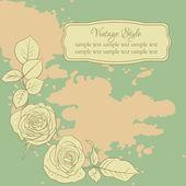 Květinové karta s růží — Stock vektor