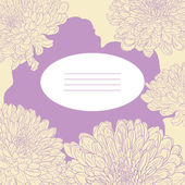 Floral card with chrysanthemum — Vector de stock