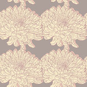 Seamless pattern with chrysanthemums — Stok Vektör