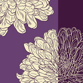 Floral card with chrysanthemum — Wektor stockowy