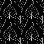 Seamless vector pattern with leaves of birch — Stockvektor