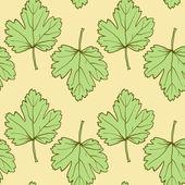 Naadloze vector patroon met bladeren — Stockvector
