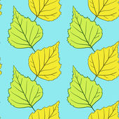 Seamless vector pattern with leaves — Stock Vector