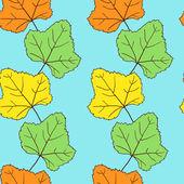 Sömlös vektor mönster med blad — Stockvektor