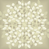 Floral composirion with leaves — Vector de stock