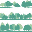 Set of different landscape with trees — Stock Vector #46975521
