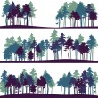 Set of different landscape with pine trees — Stock Vector #46975641