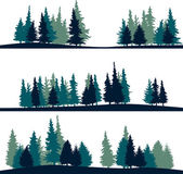 Set of different landscape with fir-trees — Stockvektor