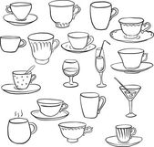Set of teacups — Stock Vector