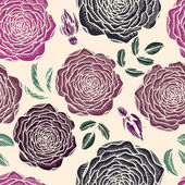 Vector seamless floral pattern with roses — Vettoriale Stock