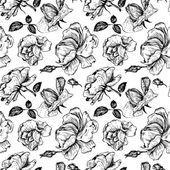 Vintage vector seamless floral pattern — Stok Vektör