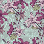 Vintage vector floral seamless pattern — Stock Vector
